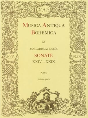 Sonates 24 A 29. Volume 4 - Jan Ladislav Dussek - laflutedepan.com