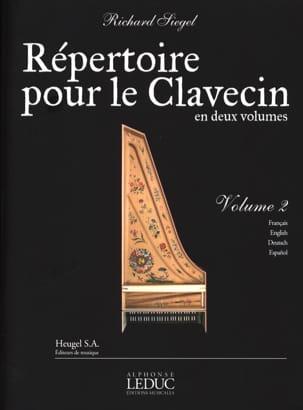 Répertoire Pour le Clavecin. Volume 2 Richard Siegel laflutedepan