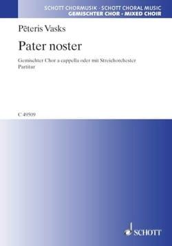 Pater noster Peteris Vasks Partition Chœur - laflutedepan