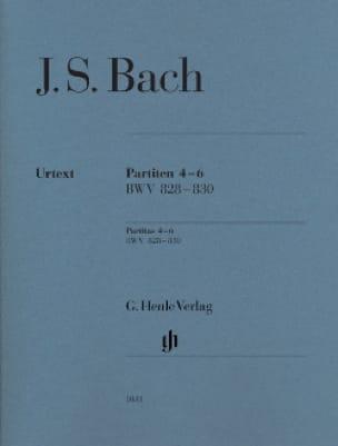 Partitas 4-6 BWV 828-830 - BACH - Partition - Piano - laflutedepan.com