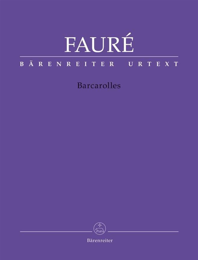 Barcarolles - FAURÉ - Partition - Piano - laflutedepan.com