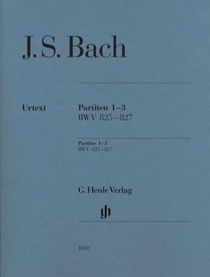 Partitas 1-3 BWV 825-827 BACH Partition Piano - laflutedepan