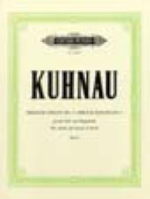 Biblische Sonate N° 6 - Johann Kuhnau - Partition - laflutedepan.com