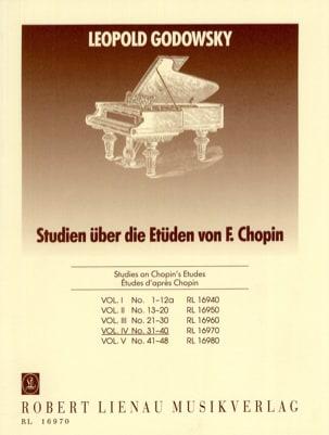 Etudes D'aprés Chopin Volume 4 GODOWSKY Partition Piano - laflutedepan