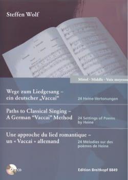 24 mélodies. Voix moyenne Steffen Wolf Partition laflutedepan