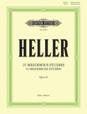 25 Etudes Mélodiques Opus 45 - Stephen Heller - laflutedepan.com