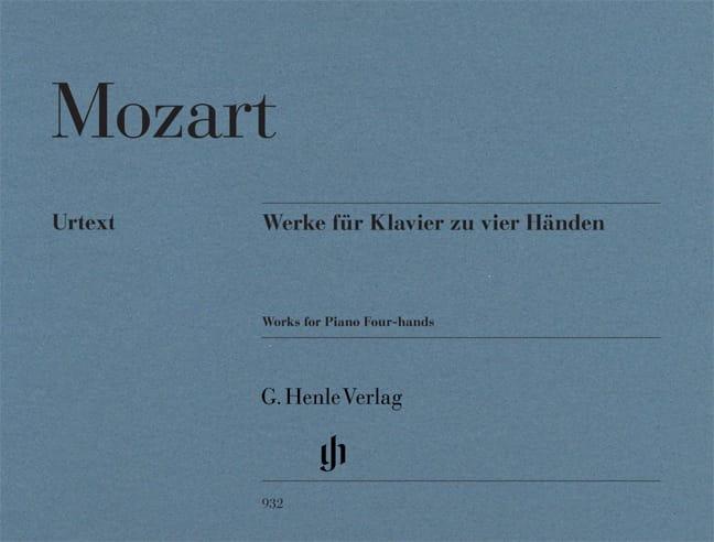 Oeuvres Pour Piano A Quatre Mains - MOZART - laflutedepan.com
