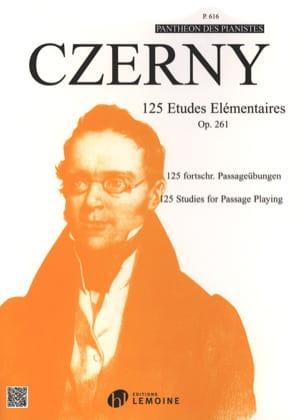 125 Etudes Elémentaires Opus 261 CZERNY Partition Piano - laflutedepan
