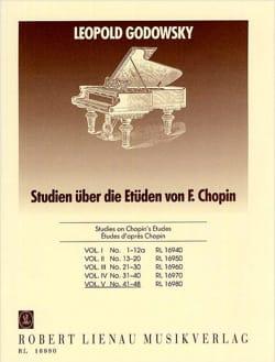 Etudes D'après Chopin Volume 5 GODOWSKY Partition Piano - laflutedepan