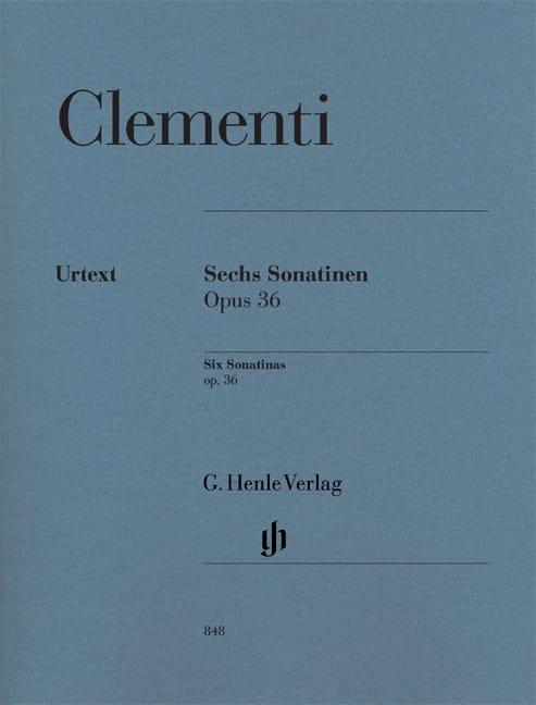 Six Sonatines Pour Piano Opus 36 - CLEMENTI - laflutedepan.com