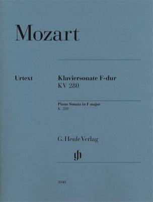 Sonate Pour Piano En Fa Majeur K 280 189e MOZART laflutedepan