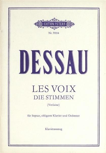 Les Voix - Paul Dessau - Partition - Mélodies - laflutedepan.com
