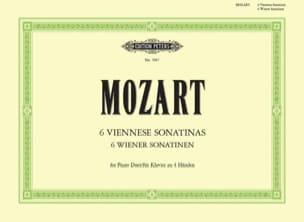 Sonatines Viennoises. 4 Mains MOZART Partition Piano - laflutedepan
