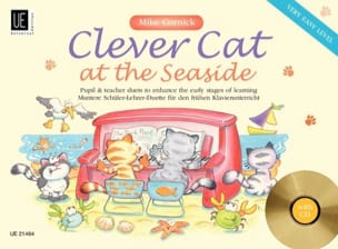 Clever Cat At The Seaside. 4 Mains Mike Cornick Partition laflutedepan