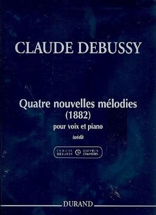 4 Nouvelles Mélodies 1882 DEBUSSY Partition Mélodies - laflutedepan