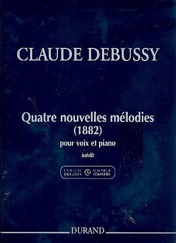 4 Nouvelles Mélodies 1882 - DEBUSSY - Partition - laflutedepan.com
