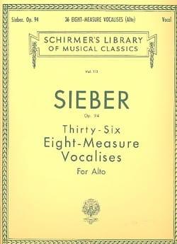 36 Vocalises De 6 Mesures Op 94. Alto Ferdinand Sieber laflutedepan