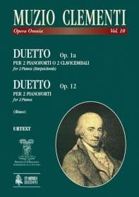 Duet Op. 1a - Duetto Opus 12. 2 Clavecins CLEMENTI laflutedepan