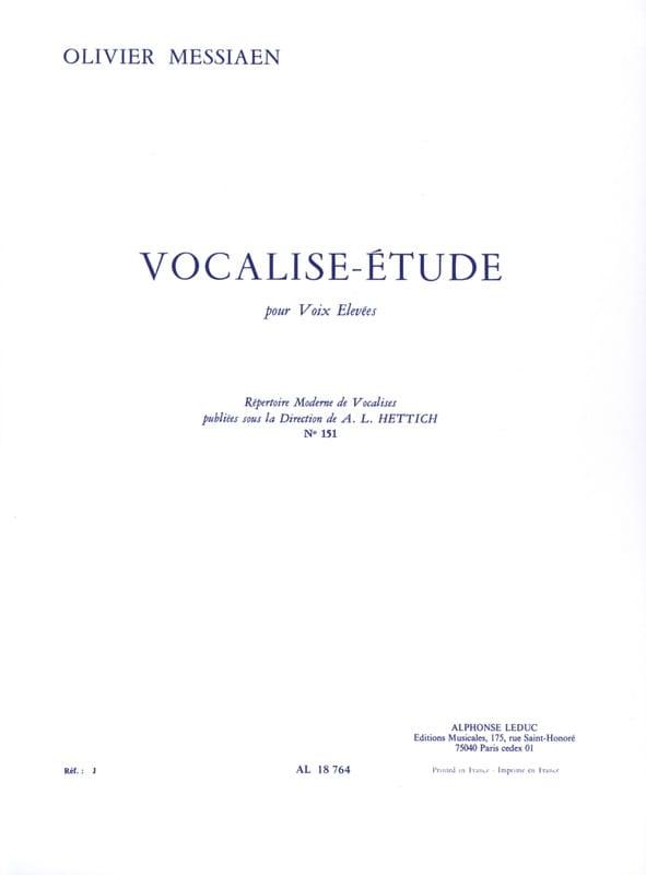 Vocalise Etude - MESSIAEN - Partition - Mélodies - laflutedepan.com