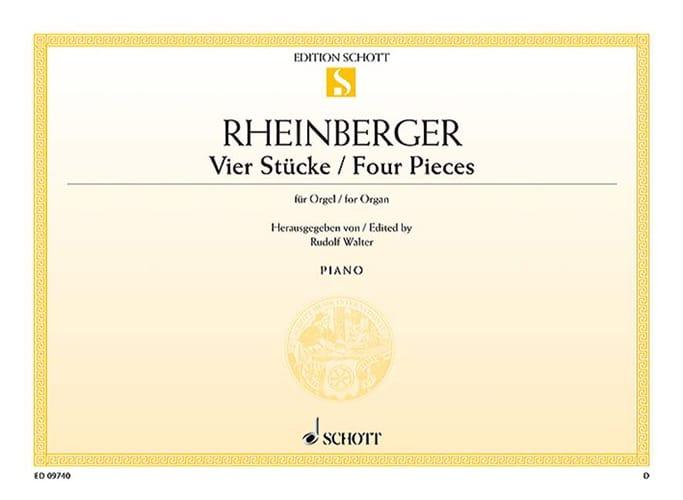 4 Stücke - RHEINBERGER - Partition - Orgue - laflutedepan.com